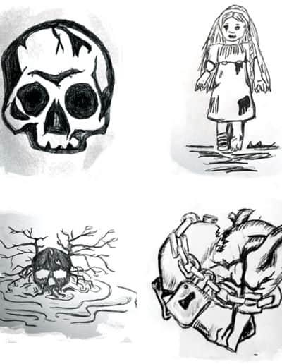 illustrasjoner - 3 steiner til nøkken