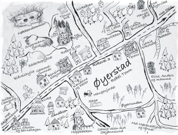 Øyerstad Kart