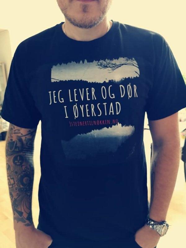 T-skjorte Jeg lever og dør i Øyerstad